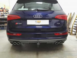 Audi with towbar fitted