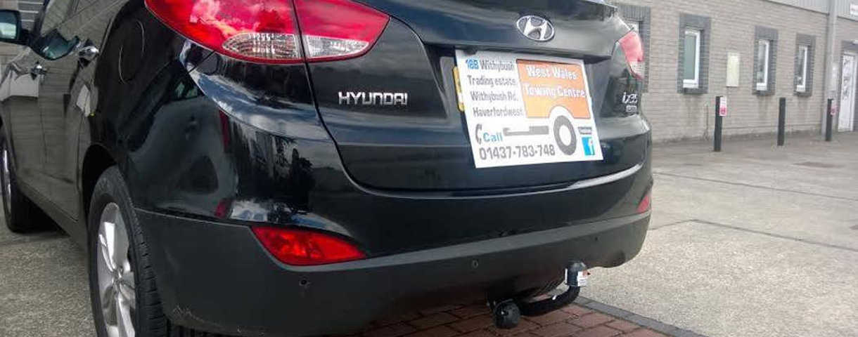 Hyundai with fitted towbar