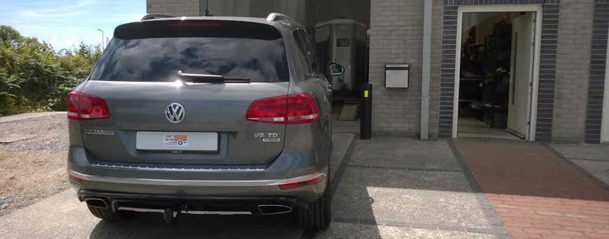 VW Touareg with towbar fitted